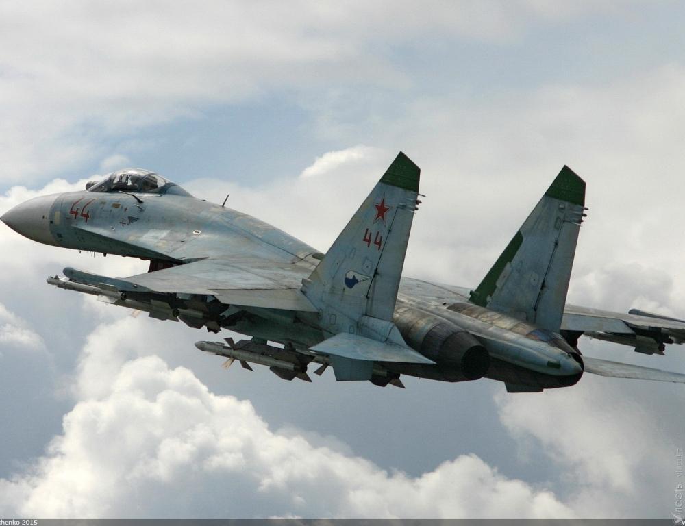 ВКазахстане потерпел крушение истребитель Су-27