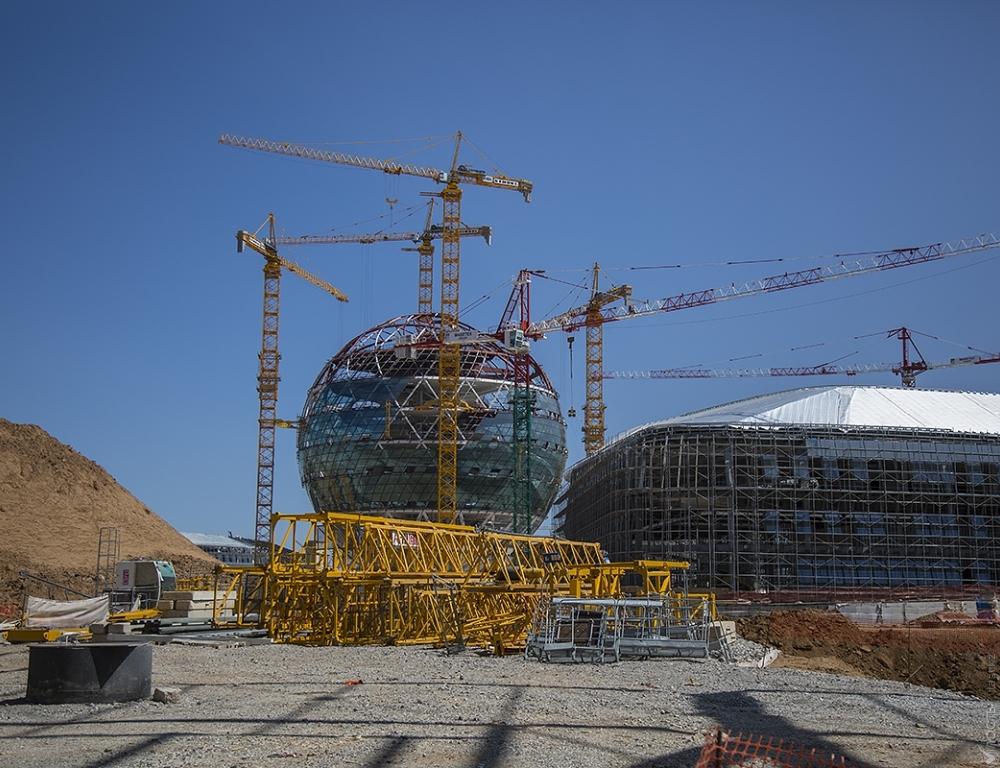 Строительство павильонов квыставке ЭКСПО вАстане закончится коктябрю
