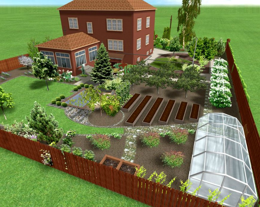 Дизайн загородного участка 8 соток