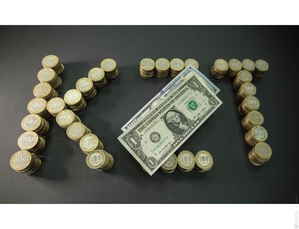 Рекордное падение тенге составило 351,85 за доллар