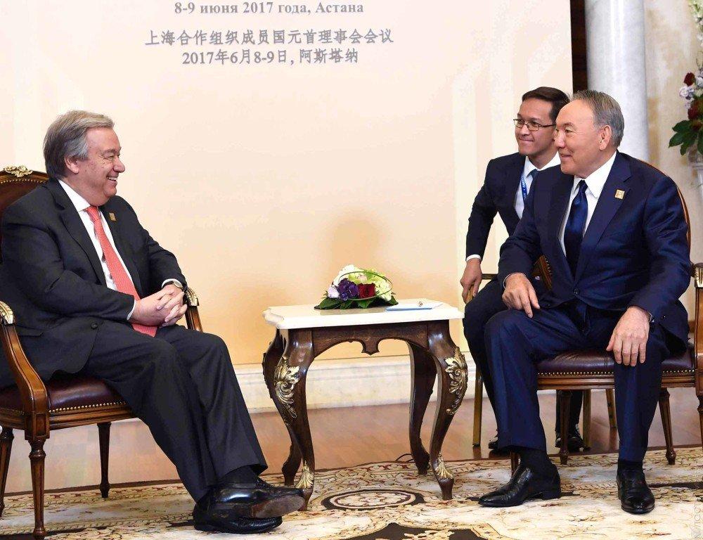 Президент Казахстана Нурсултан Назарбаев объявил , что ШОС вступила вновый этап развития