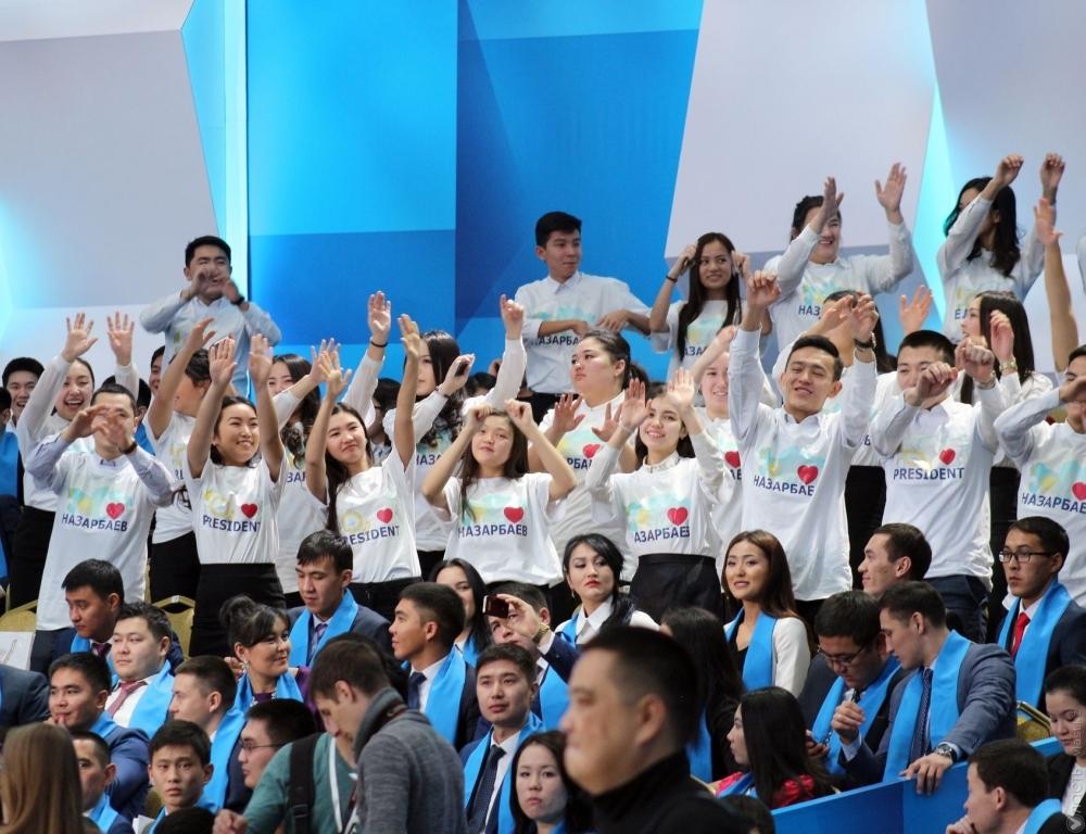 Назарбаева чествуют на консилиуме молодежи Казахстана