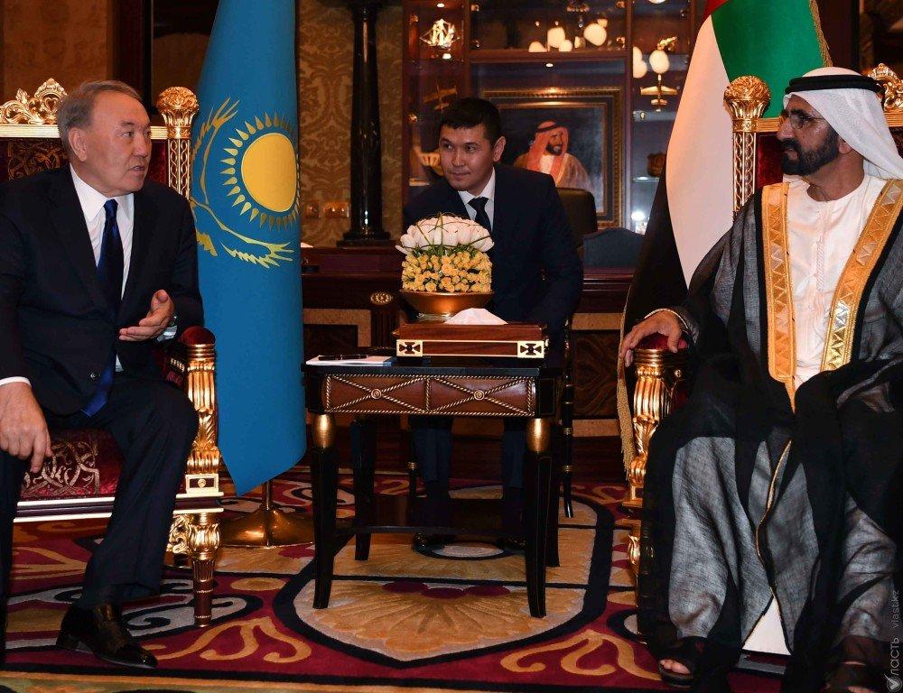 Президент Казахстана пригласил премьера ОАЭ наоткрытие ЭКСПО